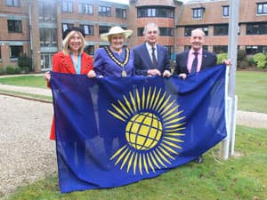 Commonwealth flag raising 9 March 2015