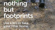 Leave nothing but footprints – new anti-litter drive