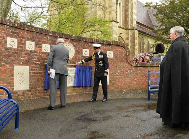 HRH The Earl of Wessex Unveils Memorial at Rededication Service
