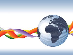 Internet Globe Waves