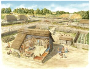 Hangra reconstruction by Alan Duncan © New Forest National Park Authority